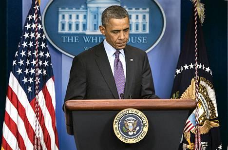 Yhdysvaltojen presidentti puhui Valkoisessa talossa pian sen jälkeen, kun tieto Mandelan kuolemasta tuli julki.
