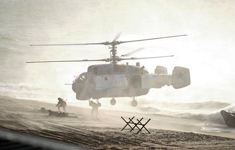 Sotilashelikopteri osallistui Venäjän johtamaan Zapad-sotaharjoitukseen viime vuonna.
