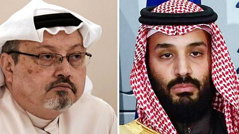 Toimittaja Jamal Khashoggi, Saudi-Arabian kruununprinssi Mohammed bin Salman.(COMBO) This combination of pictures created on June 20, 2019 shows a file photo taken on December 15, 2014 of Saudi journalist Jamal Khashoggi (L) during a press conference in the Bahraini capital Manama and a file photo taken on April 12, 2018 of Saudi Arabias crown prince Mohammed bin Salman poses at La Moncloa palace in Madrid. - The US director of national intelligence is expected to release a damning report today on February 26, 2021 that fingers Saudi Crown Prince Mohammed bin Salman for the brutal murder and dismemberment of dissident journalist Jamal Khashoggi in October 2018. (Photo by MOHAMMED AL-SHAIKH and OSCAR DEL POZO / AFP) - LEHTIKUVA / AFP Instructions: ALTERNATIVE CROP