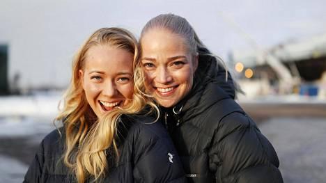 """Tytär Iina-Sofia Karonen ja äiti Pippa Laukka ovat molemmat oppineet toisiltaan paljon. """"Meillä on samanlaiset arvot."""""""