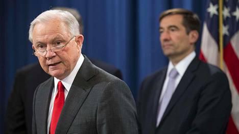Oikeusministeri Jeff Sessions Washingtonissa viime viikon torstaina.