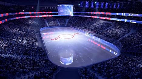 Uros Live -areenalle mahtuu sen valmistuttua 15 000 katsojaa.