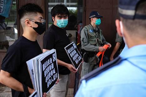 Mielenosoittajat vastustivat turvallisuuslakeja toukokuussa Hongkongissa.