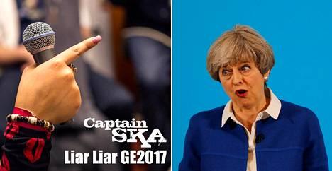 Pääministeri Theresa May saa kuulla kunniansa suosituksi nousseessa ska-biisissä.