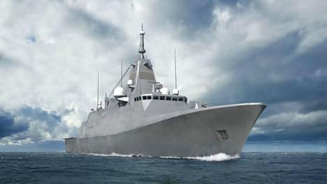 Merivoimien elokuussa päivätty havainnekuva Laivue 2020 -taistelualuksesta. Ulkonäkö kuitenkin vielä muuttuu suunnittelun edetessä.