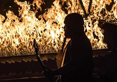 Slayer esiintyi lauantaina Helsingin jäähallissa. Kuvassa kitaristi Kerry King.