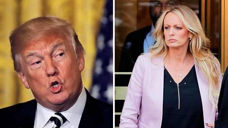 Yhdysvaltojen presidentti Donald Trumpilla väitetään olleen suhde pornotähti Stormy Danielsin, oikealta nimeltään Stephanie Cliffordin kanssa