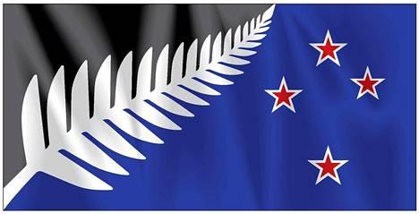 Kansanäänestyksen ensimmäisen kierroksen voittanut vaihtoehto Uuden-Seelannin uudeksi lipuksi.