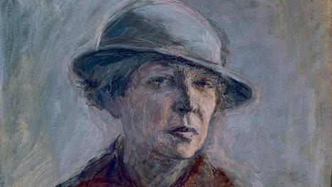 Ellen Thesleff, Hattupäinen omakuva, 1935.