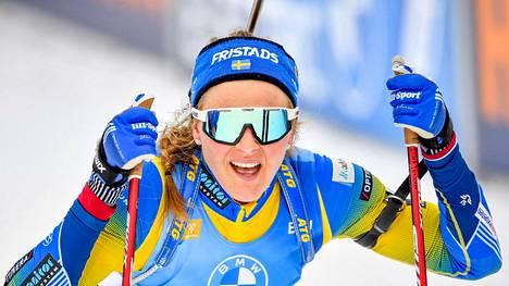 Stina Nilsson ampui mainiosti Östersundin pikakilpailussa.
