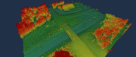 Maanmittauslaitos on kokeillut nykyistä tarkempaa laserkeilausta kahdeksalla alueella.