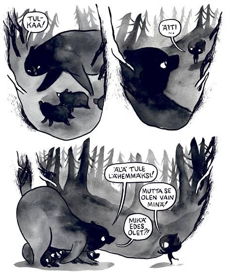 Mari Ahokoivun Oksi-sarjakuvan takana on suomalainen myytti karhun synnystä, mutta punottuna täyteen uusia, yllättäviä ja ilahduttavia elementtejä.