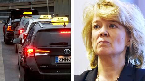 Kilpailu- ja kuluttajaviraston pääjohtaja Kirsi Leivo kertoo viraston seuraavan taksien hintoja suurella mielenkiinnolla.
