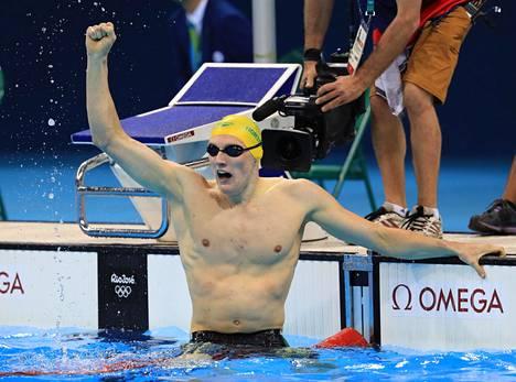 Mack Horton tuuletti Riossa olympiakultaa.