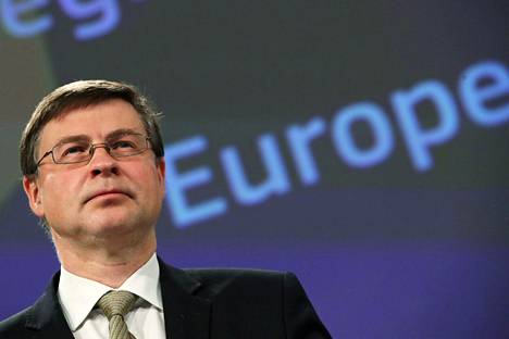 Euroopan komission varapuheenjohtaja Valdis Dombrovskis.