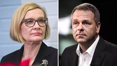 Sisäministeri Paula Risikko ja EIB:n varapääjohtaja Jan Vapaavuori.