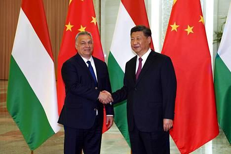 Unkarin pääministeri Viktor Orbán ja Kiinan presidentti Xi Jinping tapasivat Kiinassa huhtikuussa 2019.