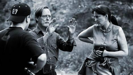 Elokuvaaja Jeri Sopanen (kesk.) The Reawakening -elokuvan kuvauksissa New Yorkissa vuonna 2003. Diane Fraher ohjaama elokuva oli Sopasen viimeisimpiä töitä.