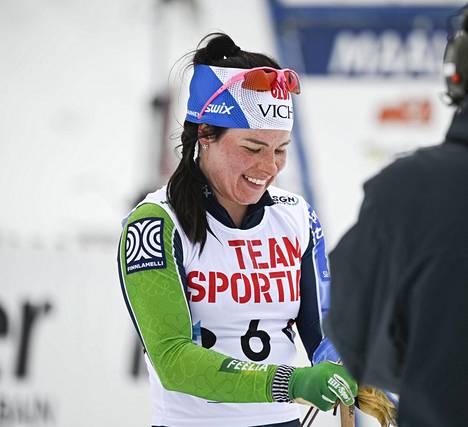 Krista Pärmäkoskien kilpailukausi päättyi Suomen cupin 15 km:n (v) yhteislähdön voittoon Rukalla 10. huhtikuuta.