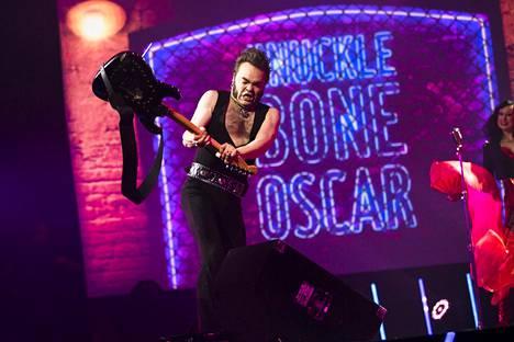Knucklebone Oscar osallistui Uuden musiikin kilpailuun Espoon Metro-areenalla vuonna 2017.