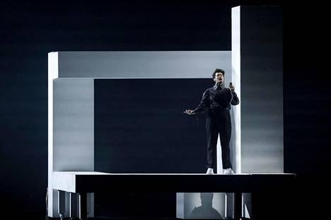 Sveitsin Gjon's Tearsin esitys oli yksi illan kauneimmista.