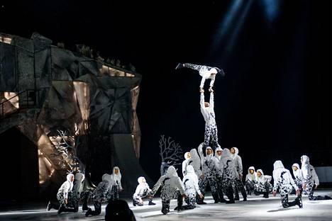 Cirque du Soleilin Crystal -esitys nähtiin tammikuussa 2020 Riiassa Latviassa.