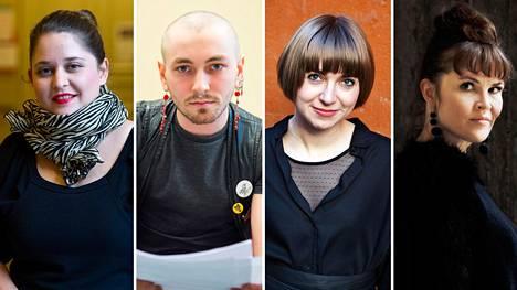 Silvia Hosseini (vas.), Susinukke Kosola, Kaija Rantakari ja Maija Sirkjärvi ovat tämän vuoden Kalevi Jäntin palkinnon voittajat.