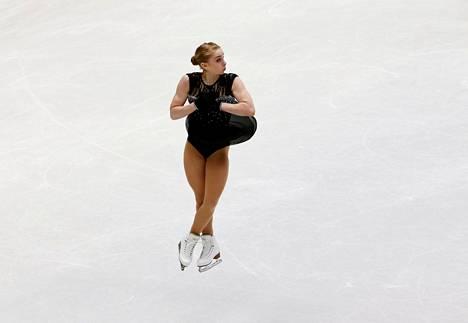 Viveca Lindfors onnistui mainiosti MM-kisojen lyhytohjelmassa.