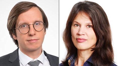 Etlan Markku Lehmus ja Palkansaajien tutkimuslaitoksen Elina Pylkkänen uskovat talouden lähtevän voimakkaaseen nousuun.