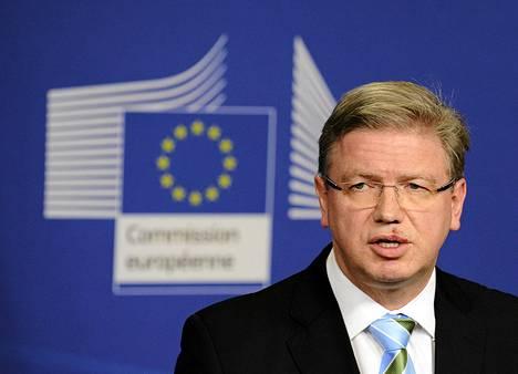 EU:n laajentumiskomissaari Stefan Füle.