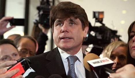 Rod Blagojevich puhui medialle vuonna 2011, jolloin hänet tuomittiin 14 vuodeksi vankeuteen.