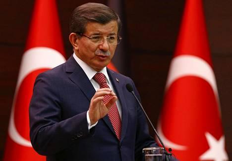 Turkin pääministeri Ahmet Davutoğlu.