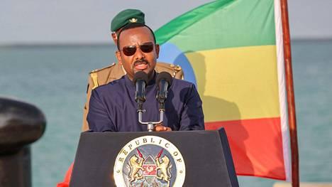 Nobelin rauhanpalkinnon viime vuonna voittanut Etiopian pääministeri Abiy Ahmed Keniassa joulukuun alussa.