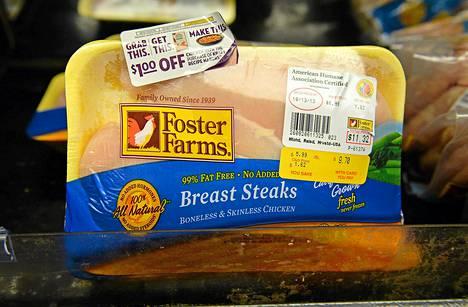 Foster Farms -kanatuotteita epäillään Yhdysvalloissa salmonellaepidemian lähteeksi.