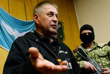 Slovjanskin separatistijohtaja Vjatšeslav Ponomarjov piti lauantaina lehdistötilaisuuden, jossa hän muun muassa selvitti vangittuina olevien Ety-järjestön tarkkailijoiden tilannetta.