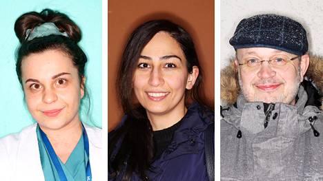Irini Papanthimou, Parvin Pashang ja Samuel Mitzman