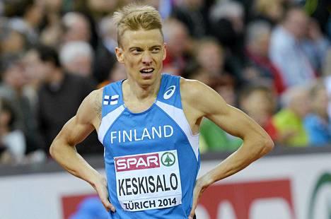 Jukka Keskisalo ei ollut tyytyväinen seitsemänteen sijaan EM-finaalissa.