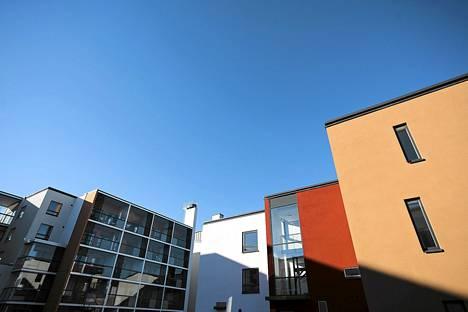 Helsingin Vallilaan on rakennettu viime vuosina runsaasti uusia asuntoja.