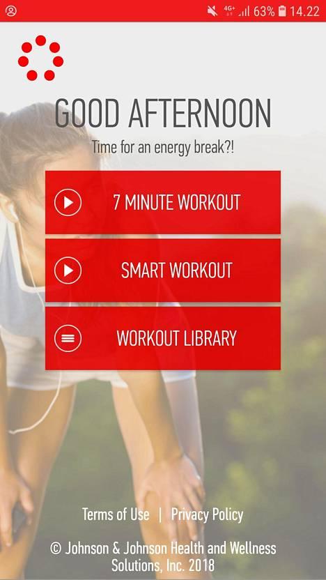 J&J-sovelluksen treenit ovat liikuntafysiologin suunnittelemia.