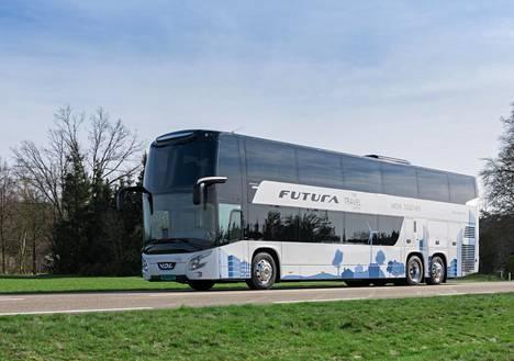 Kaksikerrosbussin Turkuun toimittaa VDL. Kuvan VDL:n bussi eroaa Turun-bussista ainakin väriltään. Turkuun koeajoon tuleva kaksoisbussi on väriltään keltainen, jotta se olisi helppo tunnistaa osaksi Fölin liikennettä.