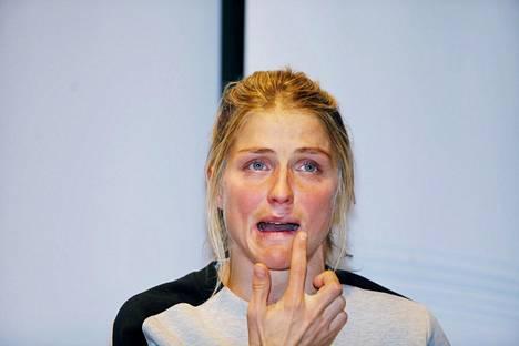 Therese Johaug on väliaikaisessa kilpailukiellossa 19. helmikuuta asti.
