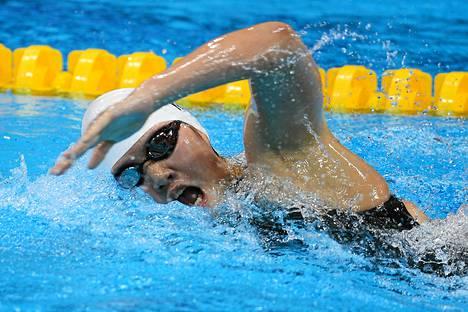 Vasta 16-vuotias Kiinan Ye Shiwen oli launtaina olympia-altaassa lyömätön.