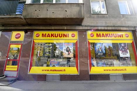 Makuuni-videovuokraamoketjun liike Helsingissä 22. elokuuta 2018.