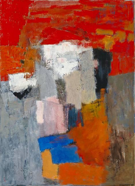 Tove Jansson: Abstrakti sommitelma, 1968, öljy kankaalle.