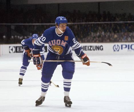 Hagman Suomi–Tsekkoslovakia-ottelussa 1978.