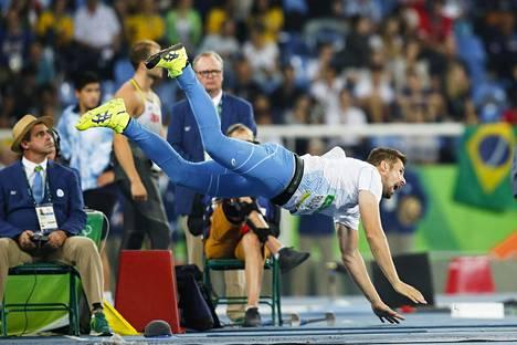 Antti Ruuskanen Rio olympialaisissa elokuussa.