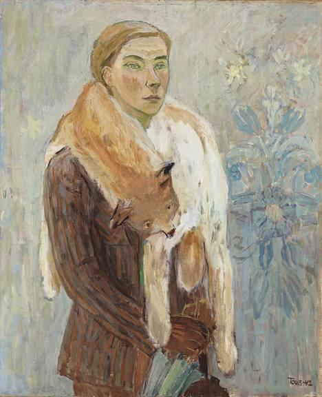Tove Jansson: Ilvesboa (omakuva), 1942, öljy kankaalle.