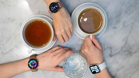 Huawei Watch GT 2, Samsung Galaxy Watch Active 2 ja Apple Watch Series 5 ovat valmistajiensa uusimpia ja kalleimpia malleja.