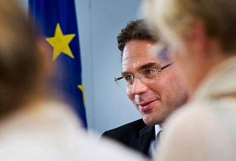 Jyrki Katainen on tyytyväinen varapuheenjohtajan pestiin.