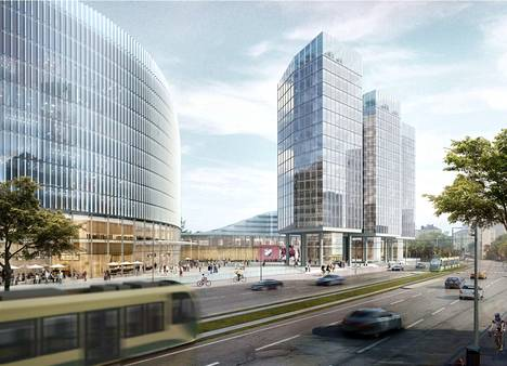 Arkkitehtikilpailu ei ole vielä alkanut, mutta idean markkinoimiseksi HIFK on teettänyt uudesta hallikompleksistaan tällaisia kuvia.